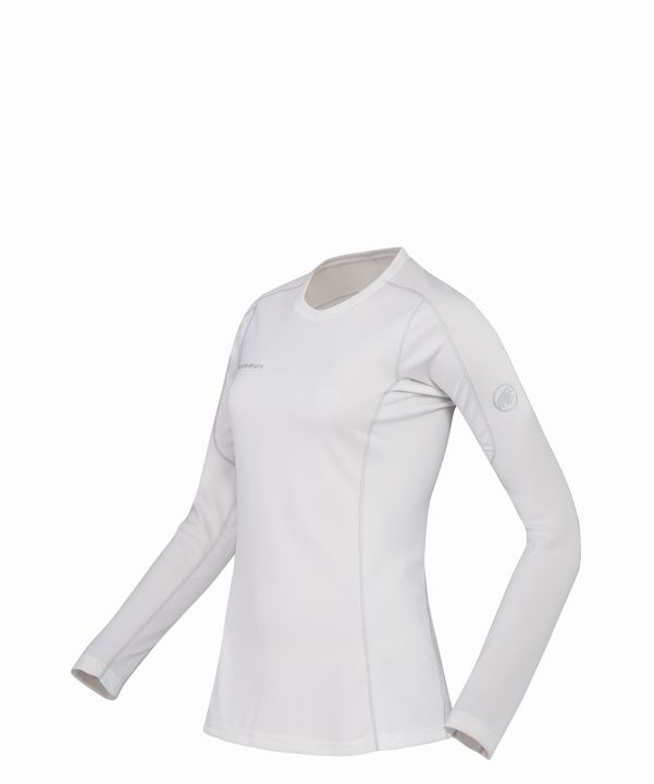 Mammut Women Go Warm Longsleeve powder-silver