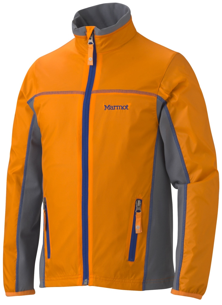Marmot Boys Fusion Jacket Dark Orange/Gargoyle