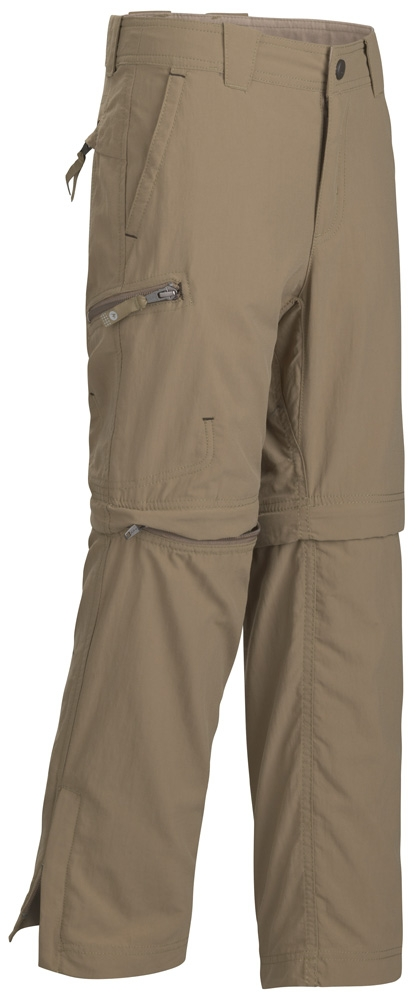 Marmot Boys Cruz Comvertible Pant Khaki Brown