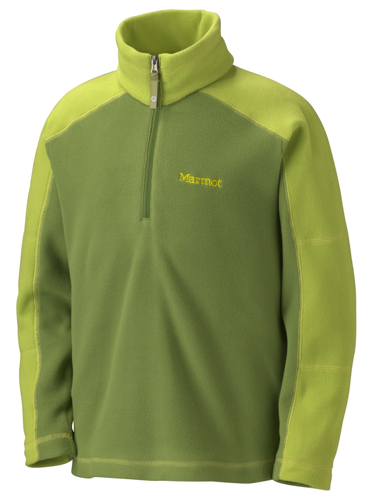 Marmot Boys Flash 1/4 Zip Green Ridge/Green Lichen