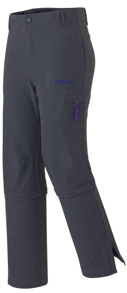 Marmot Girls Lobo's Convertible Pant Dark Steel