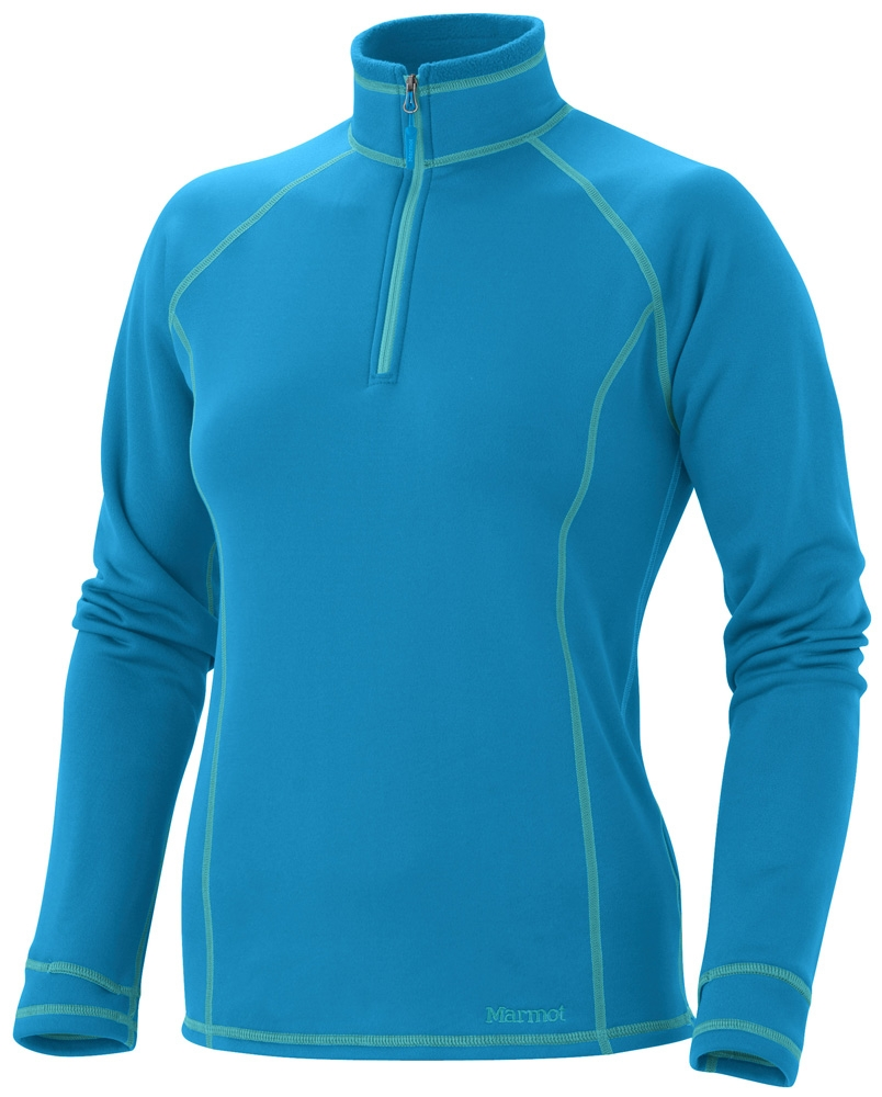 Marmot Womens Power Stretch 1/2 Zip Tahoe Blue