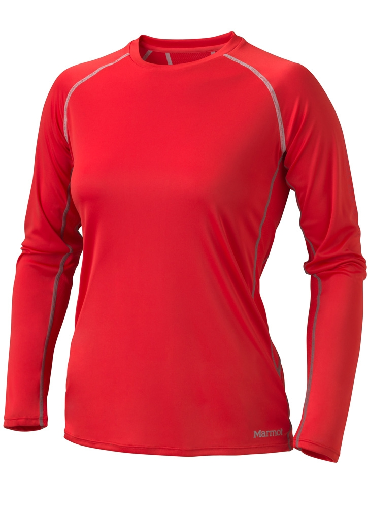 Marmot Womens Stride LS Rocket Red