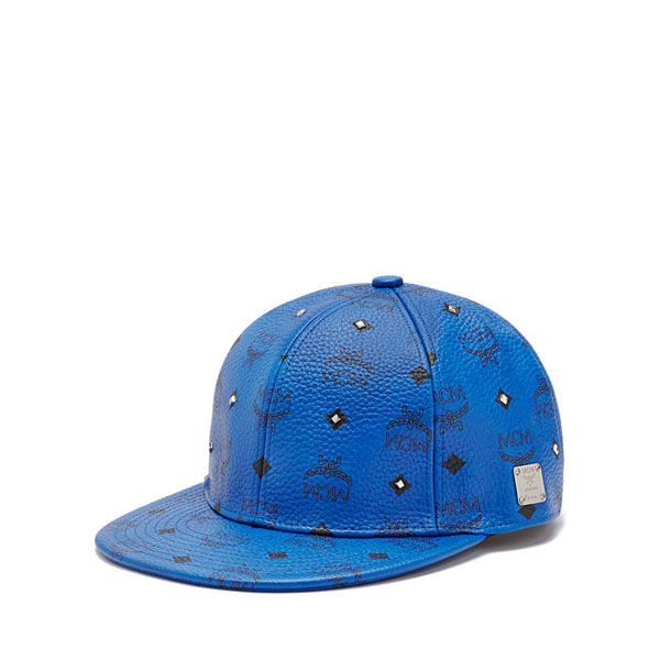 MCM MEN Gold Visetos GOLD VISETOS CAP Mazarine Blue