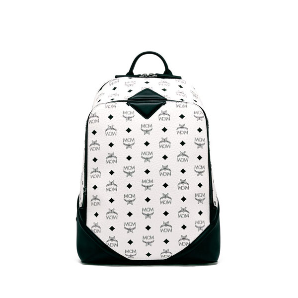 MCM MEN Duke Visetos DUKE BACKPACK White MEDIUM