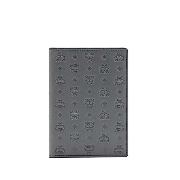 MCM MEN Sigmund SIGMUND PASSPORT HOLDER Grey ONE SIZE