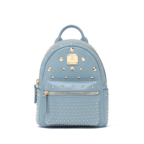 MCM TRAVEL Stark Special BEBE BOO BACKPACK Blue Haze
