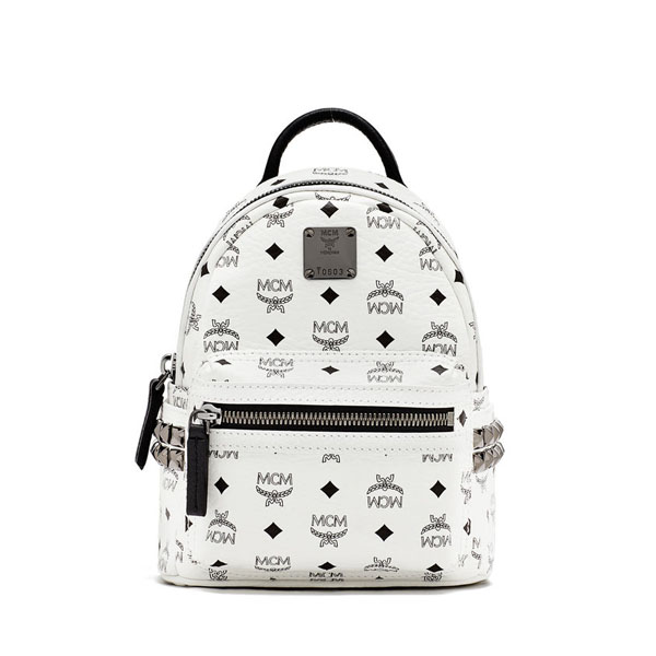 MCM TRAVEL Stark BEBE BOO BACKPACK White