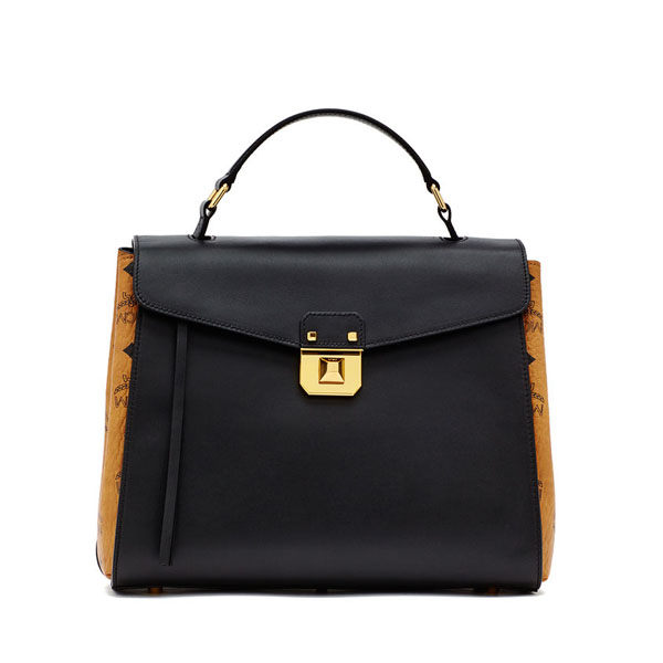 MCM TRAVEL Kathy Visetos CHRISTINA SATCHEL Black