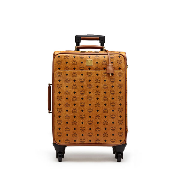 MCM WOMEN Travel CABIN TRAVEL TROLLEY Cognac