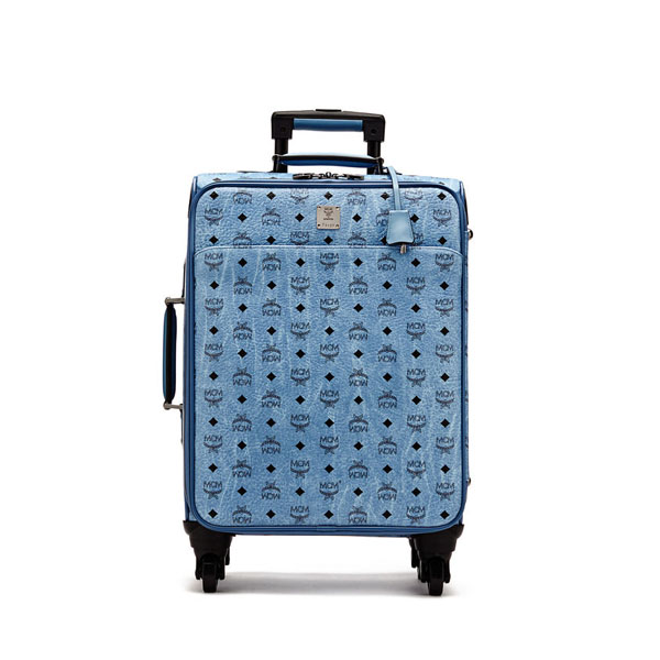 MCM WOMEN Travel CABIN TRAVEL TROLLEY Denim