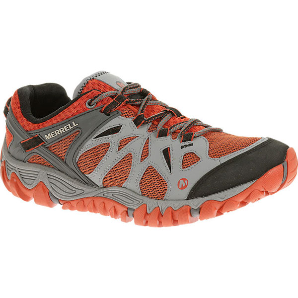 MERRELL MEN'S ALL OUT BLAZE AERO SPORT Grey/Red Clay