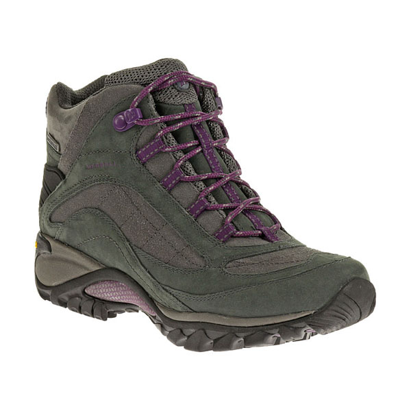 MERRELL WOMEN'S SIREN WATERPROOF MID LEATHER Granite/Purple