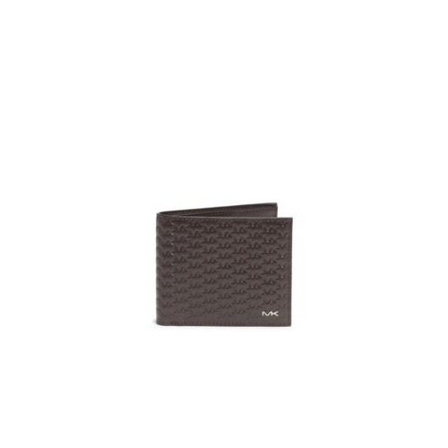 MICHAEL KORS MEN Jet Set Logo Embossed-Leather Billfold BROWN