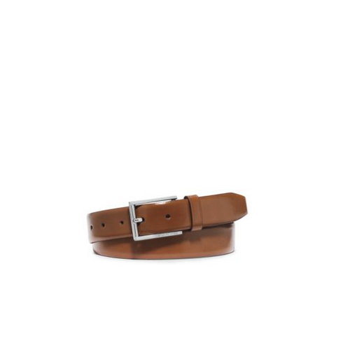 MICHAEL KORS MEN Leather Belt LUGGAGE