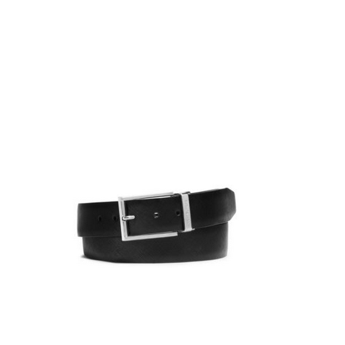 MICHAEL KORS MEN Reversible Saffiano Leather Belt LUGGAGE/BLACK