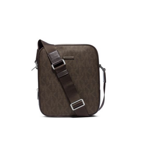 MICHAEL KORS MEN Jet Set Small Logo Flight Bag BROWN