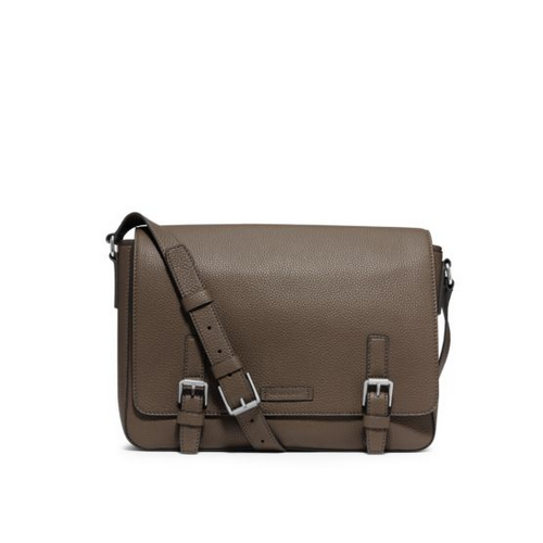 MICHAEL KORS MEN Bryant Pebbled-Leather Messenger ARMY