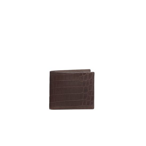 MICHAEL KORS MEN Crocodile Wallet COFFEE