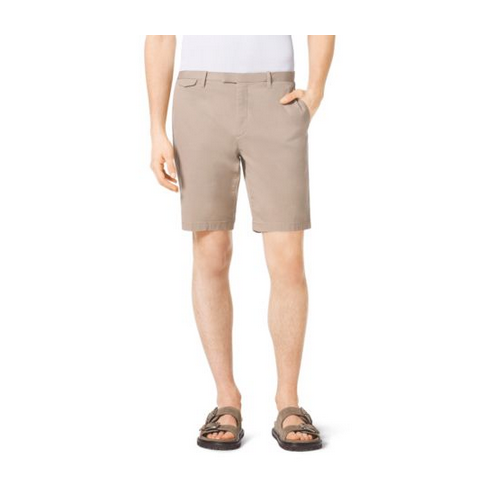MICHAEL KORS MEN Slim-Fit Stretch-Cotton Shorts SAND
