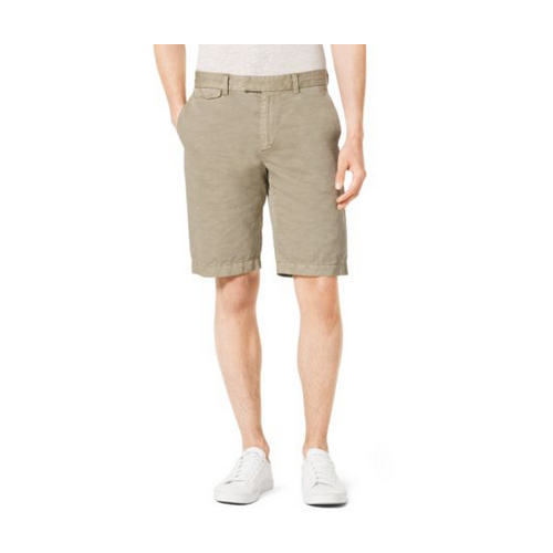 MICHAEL KORS MEN Tailored Cotton And Linen Shorts SAND