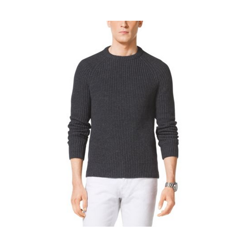MICHAEL KORS MEN Shaker-Stitch Cotton Crewneck TAR