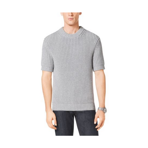 MICHAEL KORS MEN Cotton-Blend Shaker Sweater HEATHER GREY