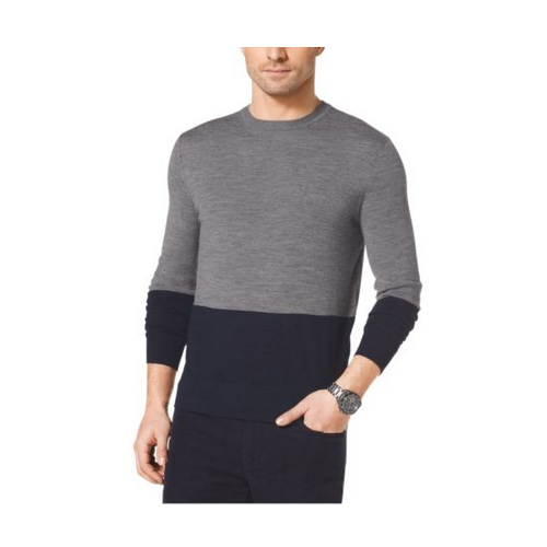 MICHAEL KORS MEN Color-Block Wool Sweater ASH