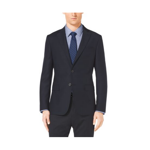 MICHAEL KORS MEN Slim-Fit Two-Button Wool Jacket MIDNIGHT