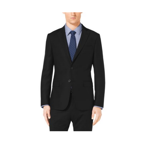 MICHAEL KORS MEN Slim-Fit Two-Button Wool Jacket BLACK