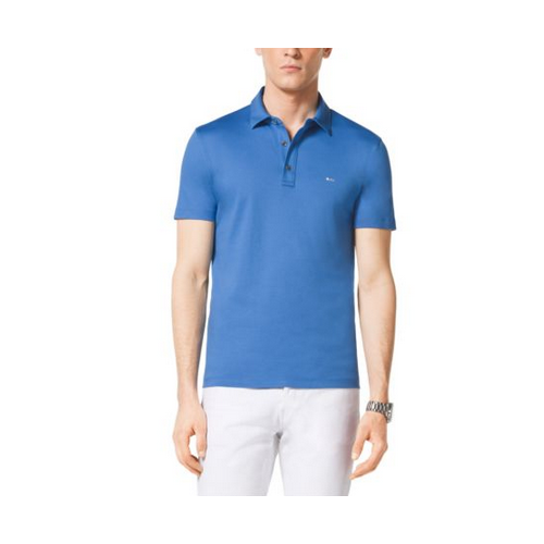 MICHAEL KORS MEN Cotton Polo Shirt OCEAN