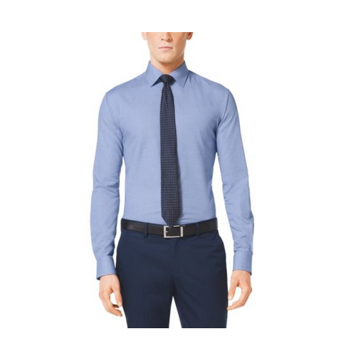 MICHAEL KORS MEN Cotton Dress Shirt BRIGHT BLUE