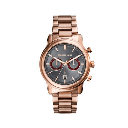 MICHAEL KORS Pennant Rose Gold-Tone Watch