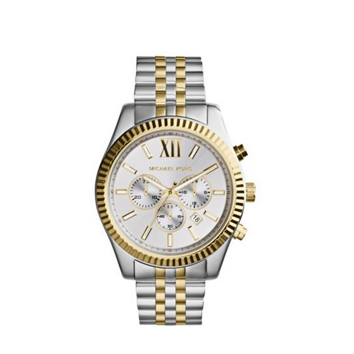 MICHAEL KORS Lexington Silver And Gold-Tone Watch