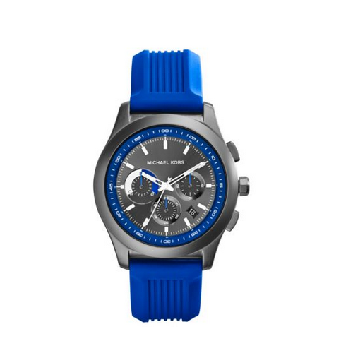 MICHAEL KORS Outrigger Blue And Gunmetal Watch