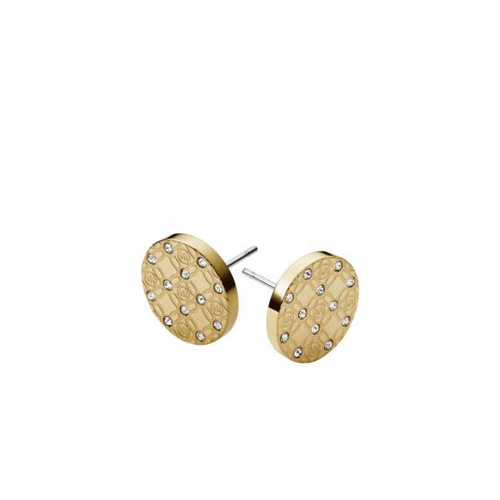 MICHAEL KORS Pav Logo Gold-Tone Earrings