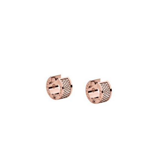 MICHAEL KORS Pav Rose Gold-Tone Hug Earrings