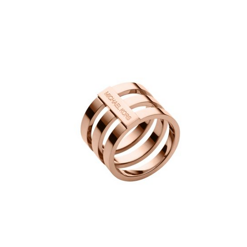 MICHAEL KORS Rose Gold-Tone Tri-Stack Ring