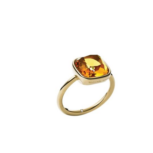 MICHAEL KORS Citrine Gold-Tone Ring