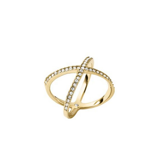 MICHAEL KORS Pav Gold-Tone Midi Ring