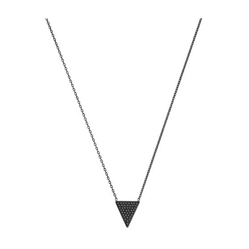 MICHAEL KORS Pav Triangle Black-Pendant Necklace