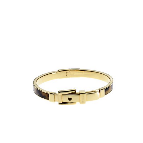 MICHAEL KORS Bedford Tortoise Acetate And Gold-Tone Buckle Bangle