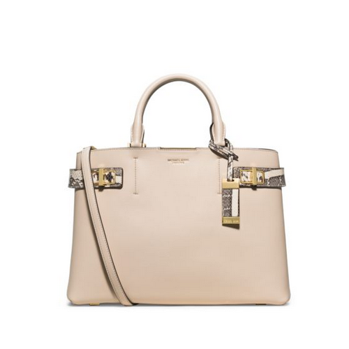 MICHAEL MICHAEL KORS Bette Large Leather And Python Satchel