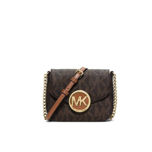 MICHAEL MICHAEL KORS Fulton Logo Small Crossbody BROWN