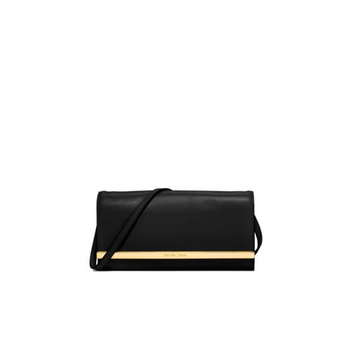 MICHAEL MICHAEL KORS Lana Leather Clutch BLACK