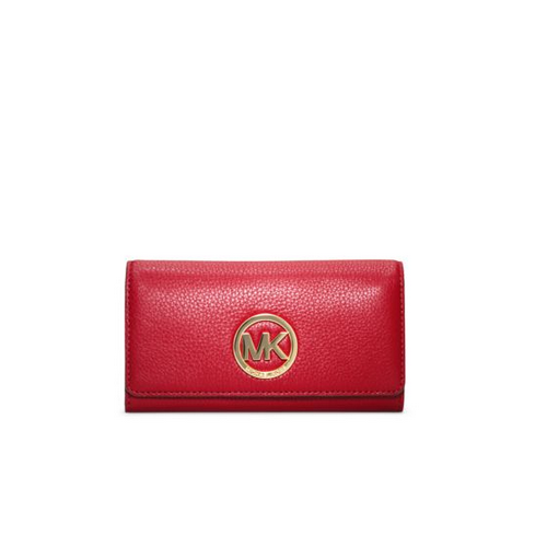 MICHAEL MICHAEL KORS Fulton Leather Carryall Wallet CHILI