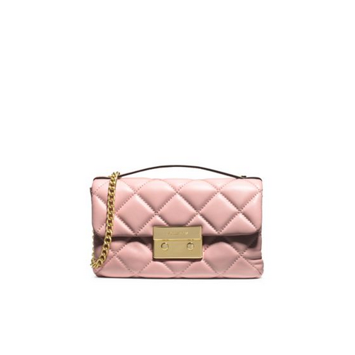 MICHAEL MICHAEL KORS Sloan Quilted Leather Small Messenger BLOSSOM