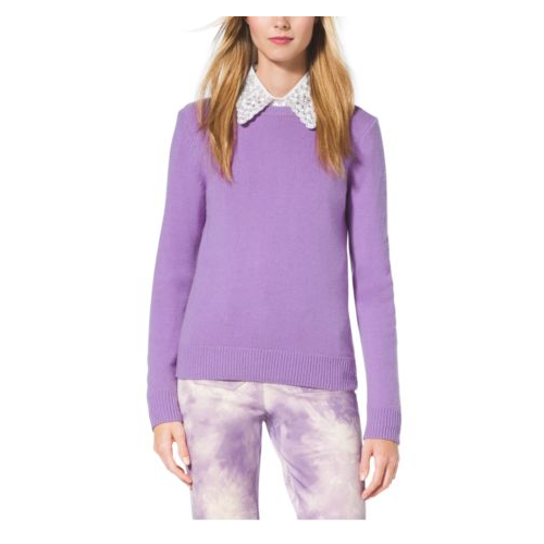 MICHAEL KORS COLLECTION Crewneck Cashmere Sweater WISTERIA