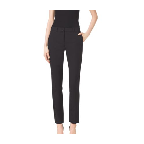 MICHAEL KORS COLLECTION Samantha Stretch-Cotton Skinny Pants BLACK