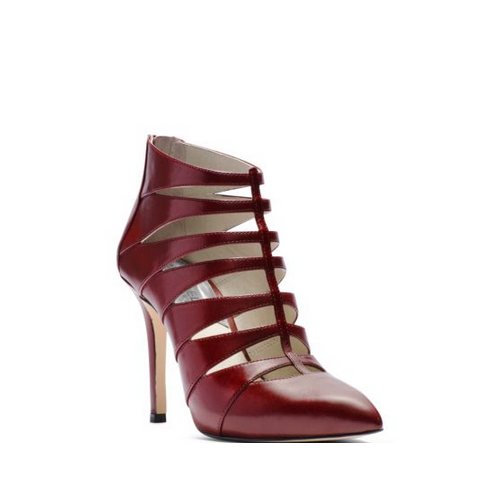 MICHAEL MICHAEL KORS Mavis Cutout Leather Pump CLARET